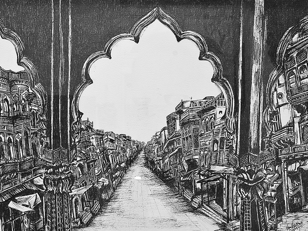 its a street with old buildings from Bangladesh, India and Pakistan.